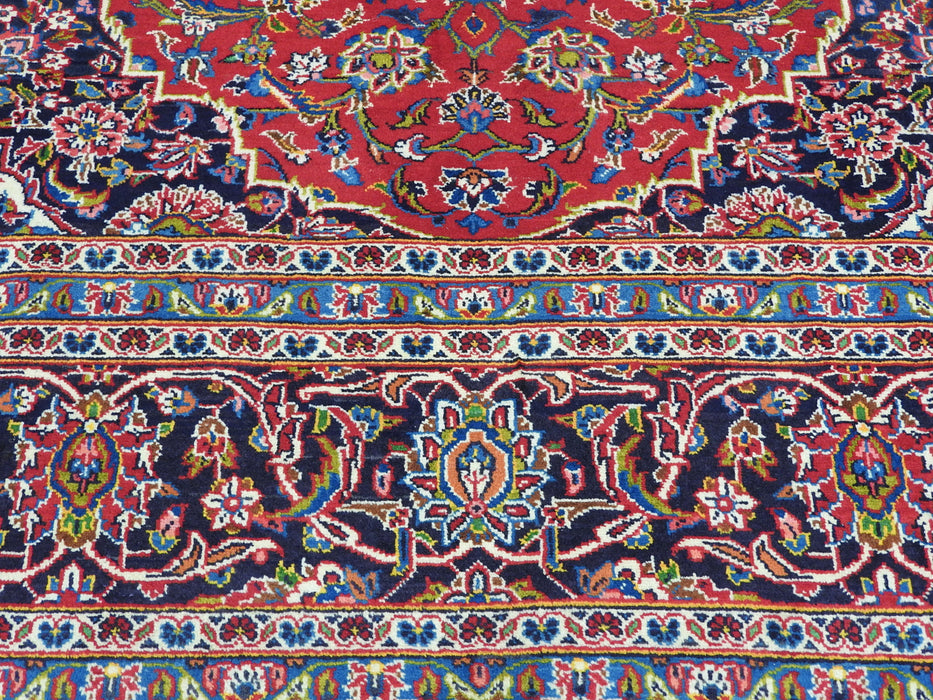 Persian Hand Knotted Kashan Rug Size: 355 x 255cm