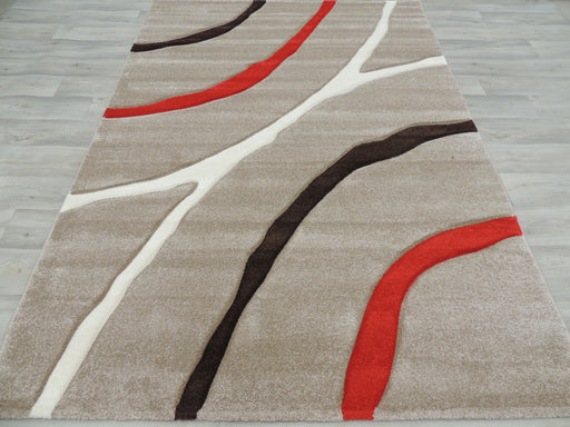 Soft Lines Beige Modern Turkish Rug