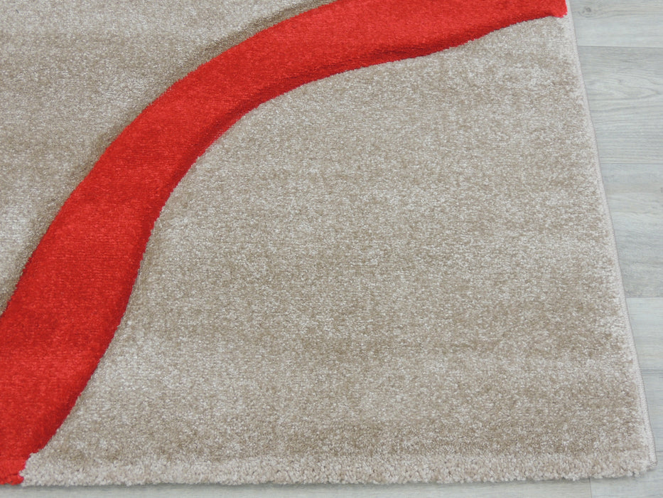 Soft Lines Beige Modern Turkish Rug-Modern Rug-Rugs Direct