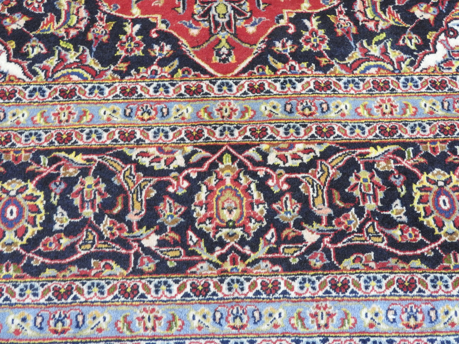 Persian Hand Knotted Kashan Rug Size: 340 x 240cm-Persian Rug-Rugs Direct