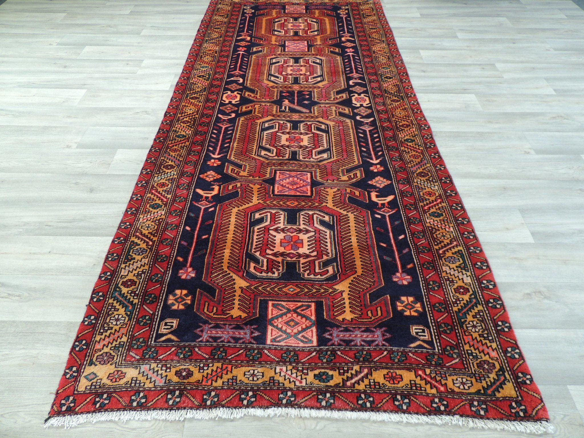 Bold Persian Hand Made Ardabil Runner Size: 122 x 290cm
