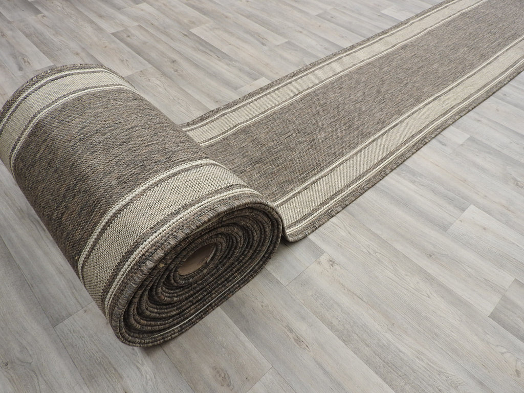 Sisal Look Flatweave Rubber Back Runner 67cm Wide X Cut To