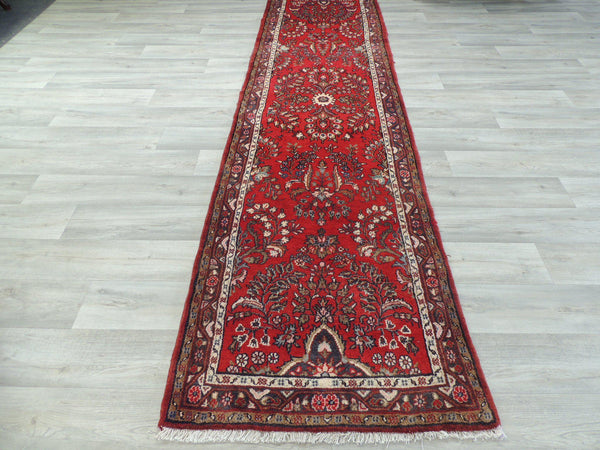 Persian Hand Knotted Hamedan Runner Size: 77 x 300cm