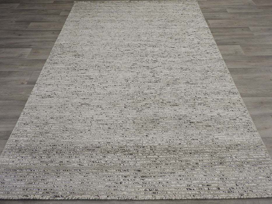 Hand Made Wool & Bamboo Silk Rug-natural/wool-Rugs Direct