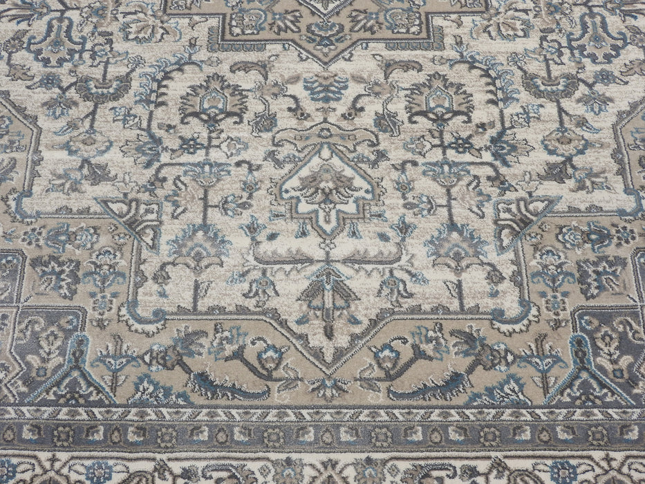 Muted Greys Traditional Turkish Rug