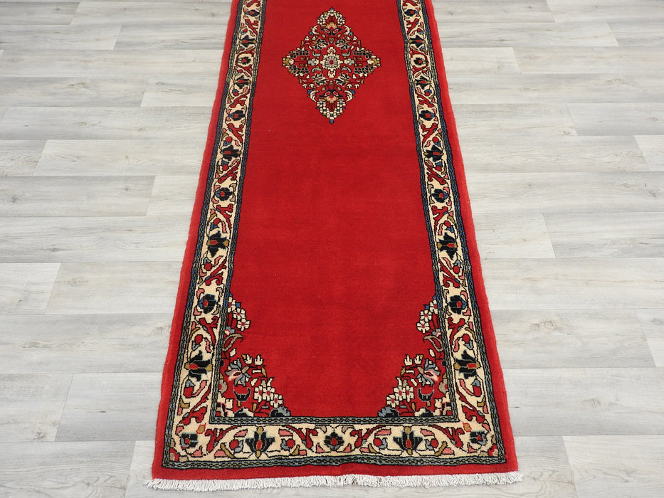Persian Hand Knotted Arak Hallway Runner Size: 308 x 84cm-Persian Rug-Rugs Direct
