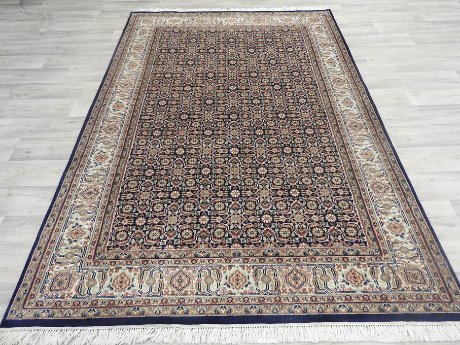 Pure Wool Hand Knotted Herati Rug Size: 240 x 166cm-Persian Rug-Rugs Direct