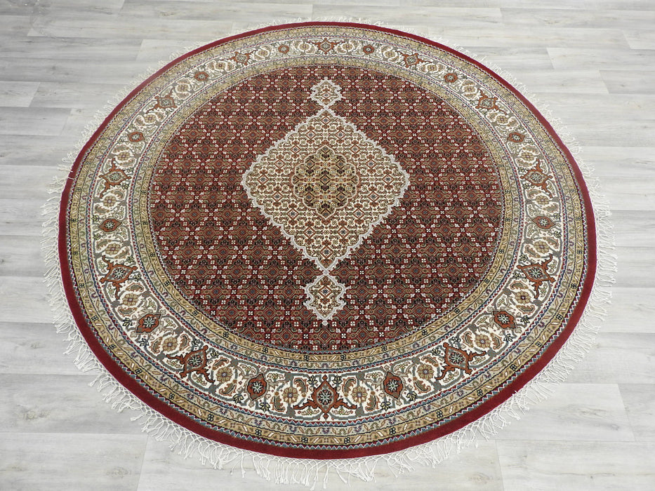 Pure Wool Mahi Design Round Rug Size: 203 x 203cm-Round Rug-Rugs Direct
