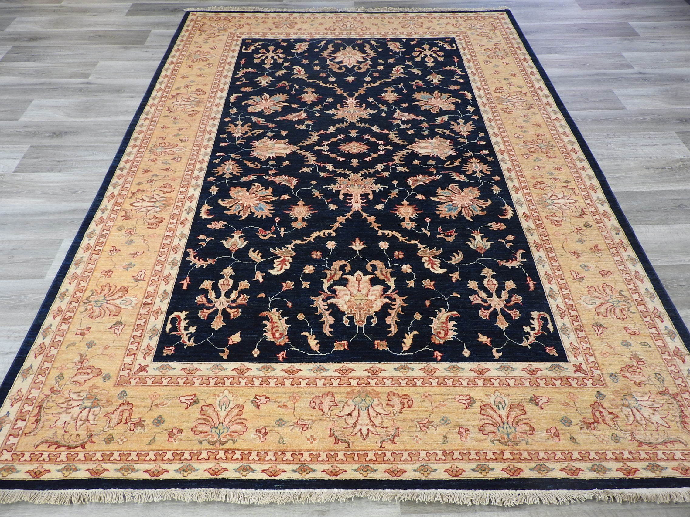 Afghan Hand Knotted Choubi Rug Size: 300 x 214cm