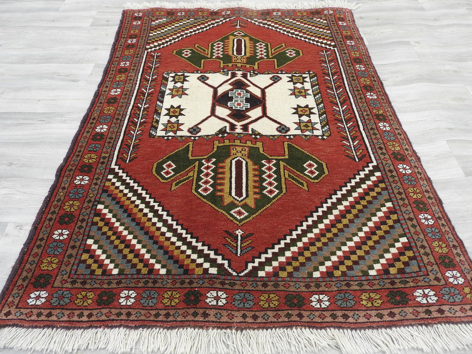 Persian Hand Knotted Quchan Rug Size: 166 x 125cm-Persian Rug-Rugs Direct