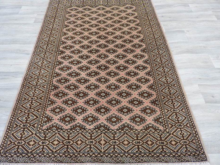 Old Persian Hand Knotted Turkman Rug Size: 130 x 195cm