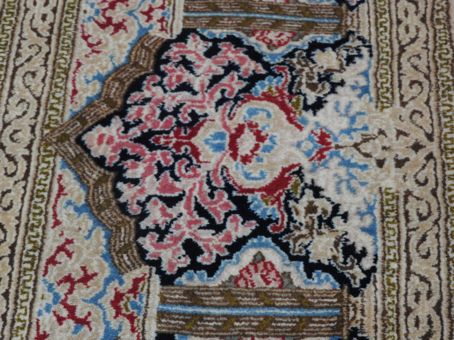 Exquisite Royal Ghab Ghorani Design Persian Hand Knotted Kerman Rug Size: 280 x 418cm