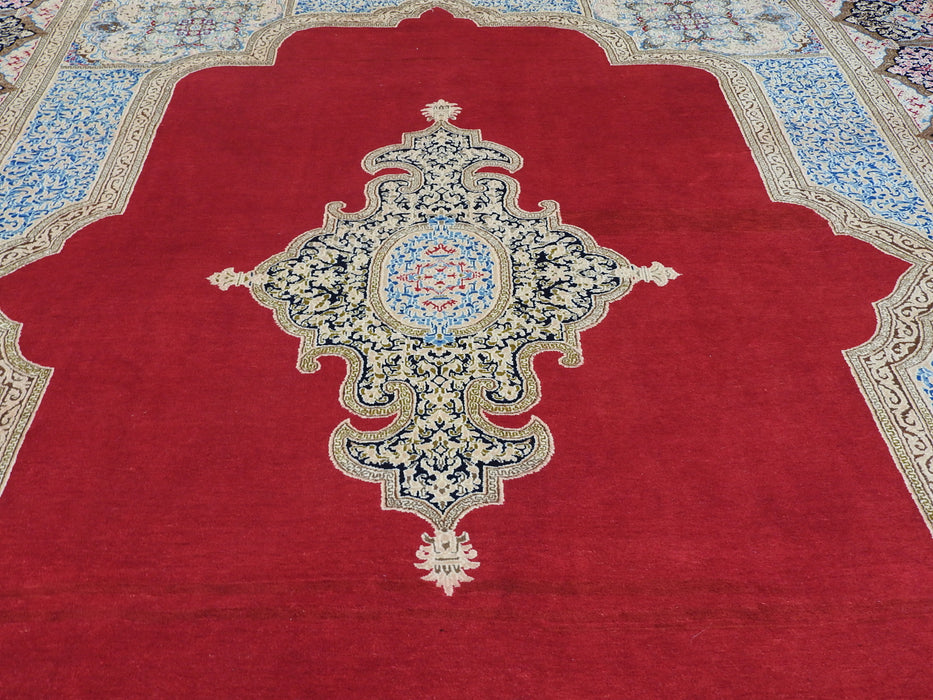 Exquisite Royal Ghab Ghorani Design Persian Hand Knotted Kerman Rug Size: 280 x 418cm-Kerman Rug-Rugs Direct