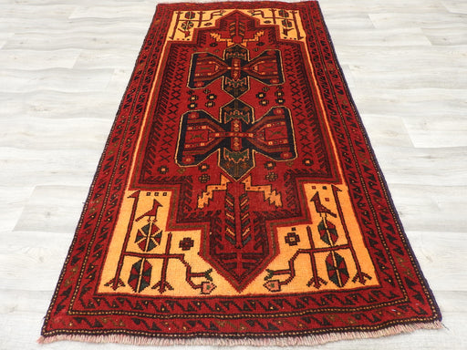 Persian Hand Knotted Baluchi Rug Size: 180 x 86cm