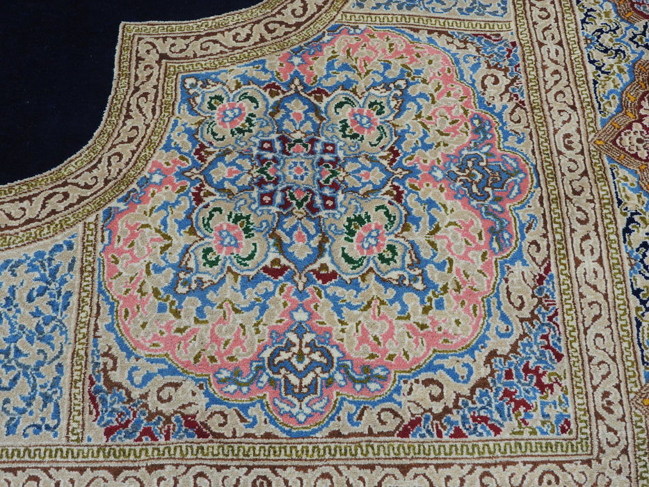 Persian Hand Knotted Kerman Rug Size: 444 x 305cm
