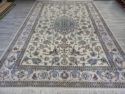 Persian Hand Knotted Nain Rug Size: 307 x 203cm