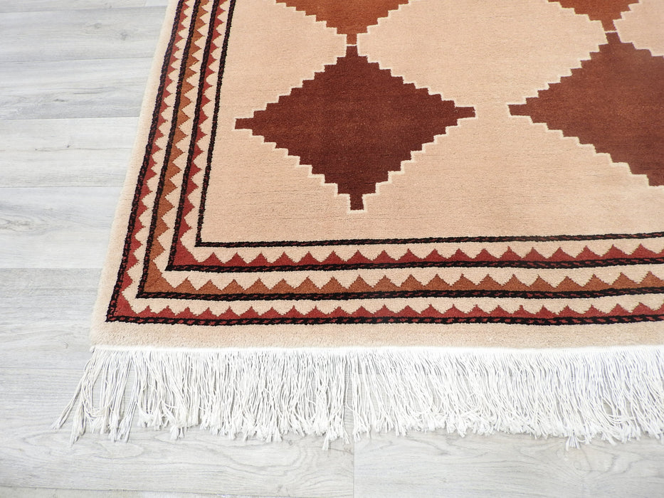 Hand Made Indian Gabbeh Rug Size: 135 x 200cm-Gabbeh Rug-Rugs Direct