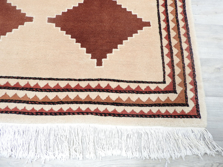 Hand Made Indian Gabbeh Rug Size: 135 x 200cm