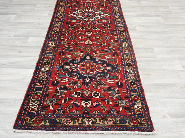 Persian Hand Knotted Hamedan Runner Size: 95 x 320cm