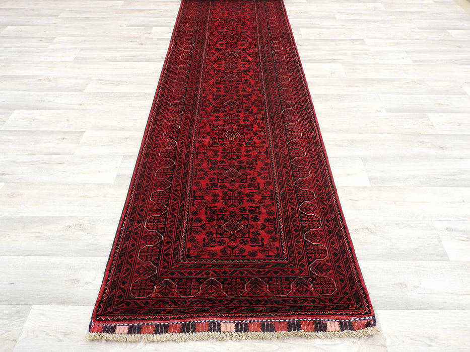 Hand Knotted Afghan Khal Mohammadi Runner Size: 969 x 79cm-Afghan Runner-Rugs Direct