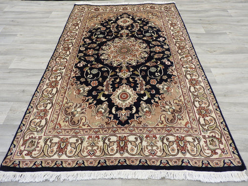 Hand Knotted Wool & Silk Rug Size: 121 x 191cm-Physical-Rugs Direct