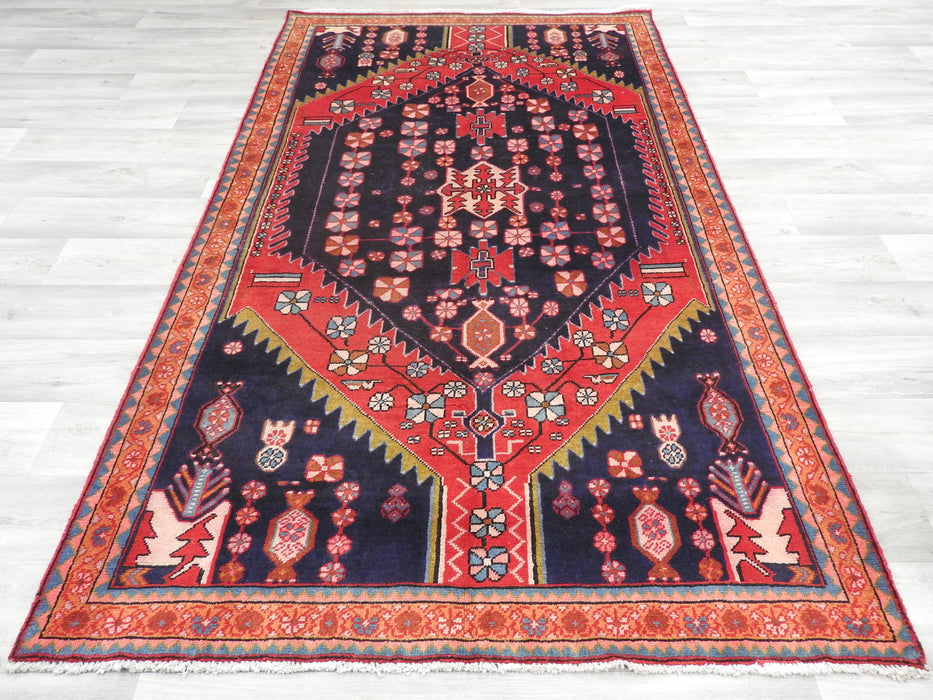 "Persian Hand Knotted ""Semi Antique"" Saveh Rug Size: 228 x 138cm-Persian Rug-Rugs Direct"