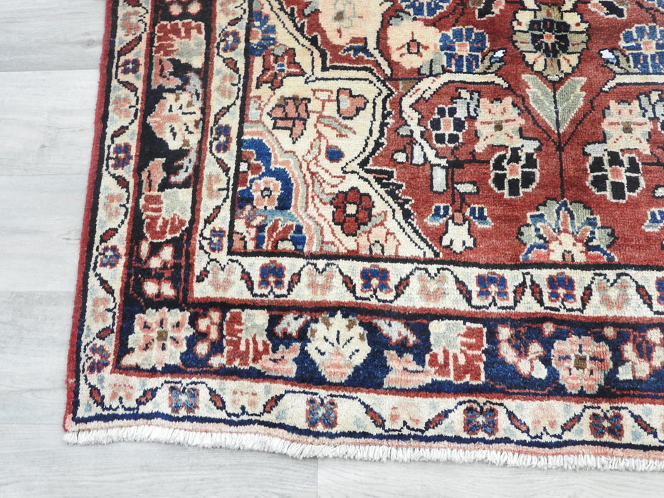 Persian Hand Knotted Mahal Rug Size: 221 x 129cm-Persian Rug-Rugs Direct