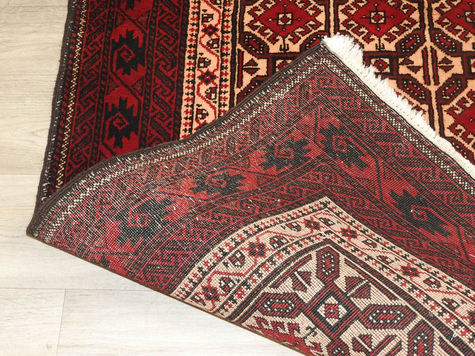 "Persian Hand Knotted ""Semi Antique"" Baluchi Rug Size: 188 x 93cm-Persian Rug-Rugs Direct"