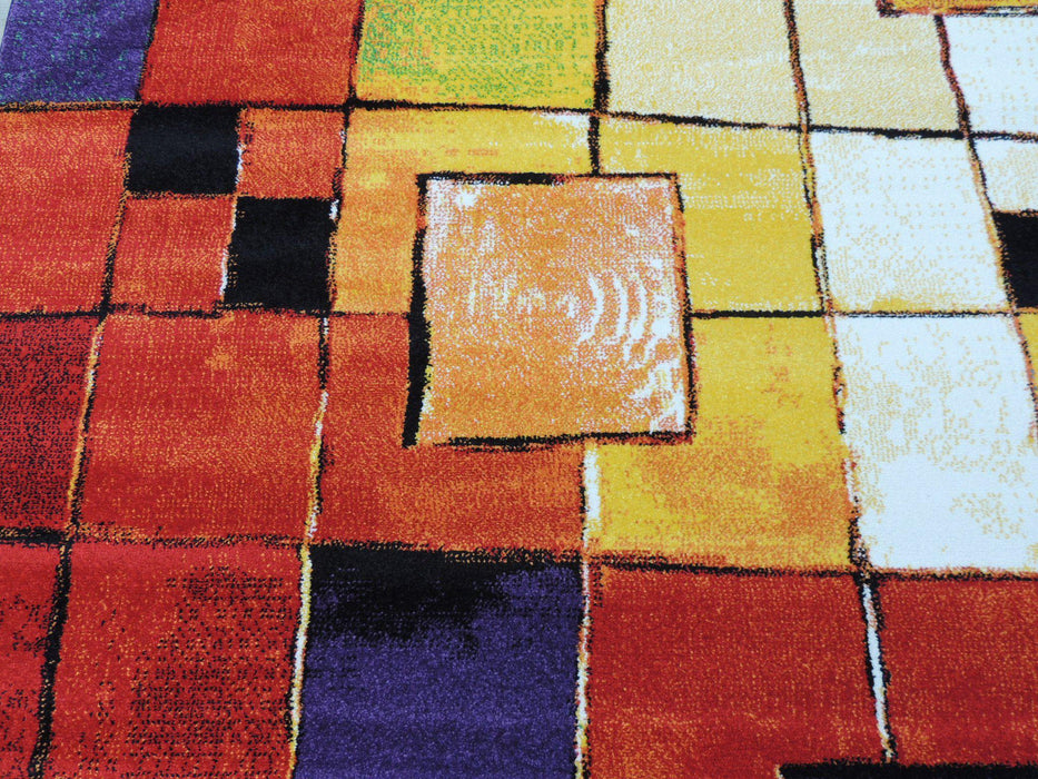 Turkish Multi-Colour Modern Rug Size