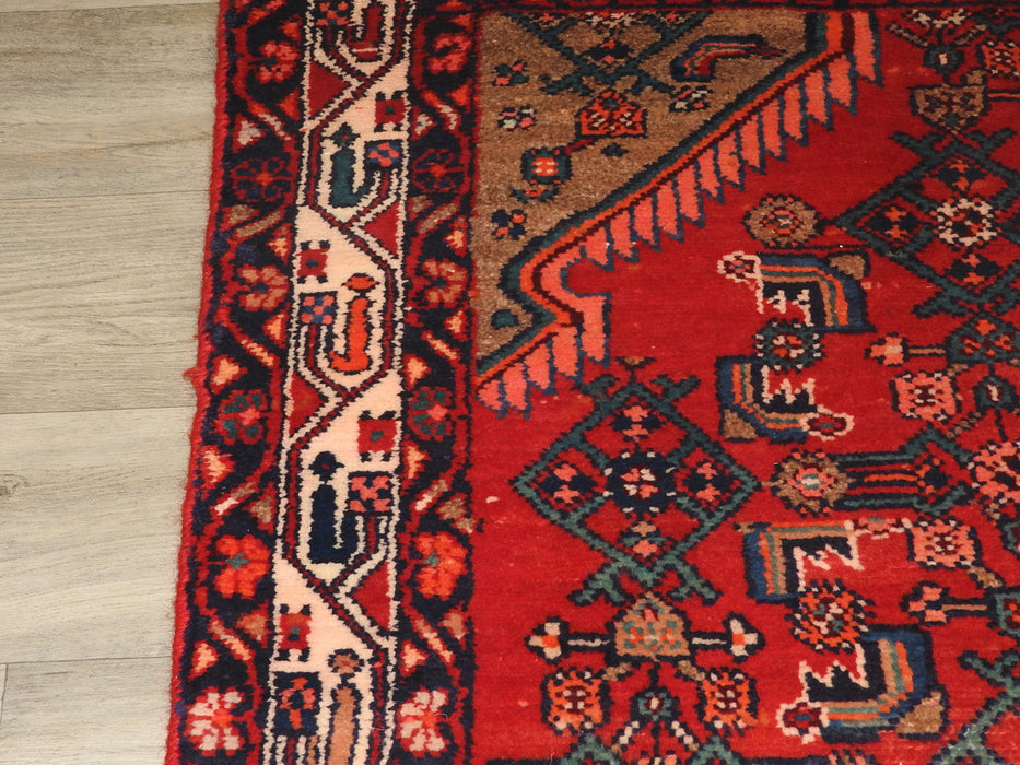 Persian Hand Knotted Hamedan Rug Size: 220 x 130cm-Persian Rug-Rugs Direct