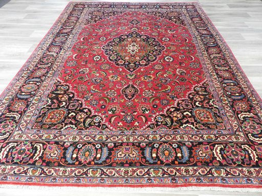 Persian Hand Knotted Signature Mashhad Rug Size: 340 x 247cm-Persian Rug-Rugs Direct