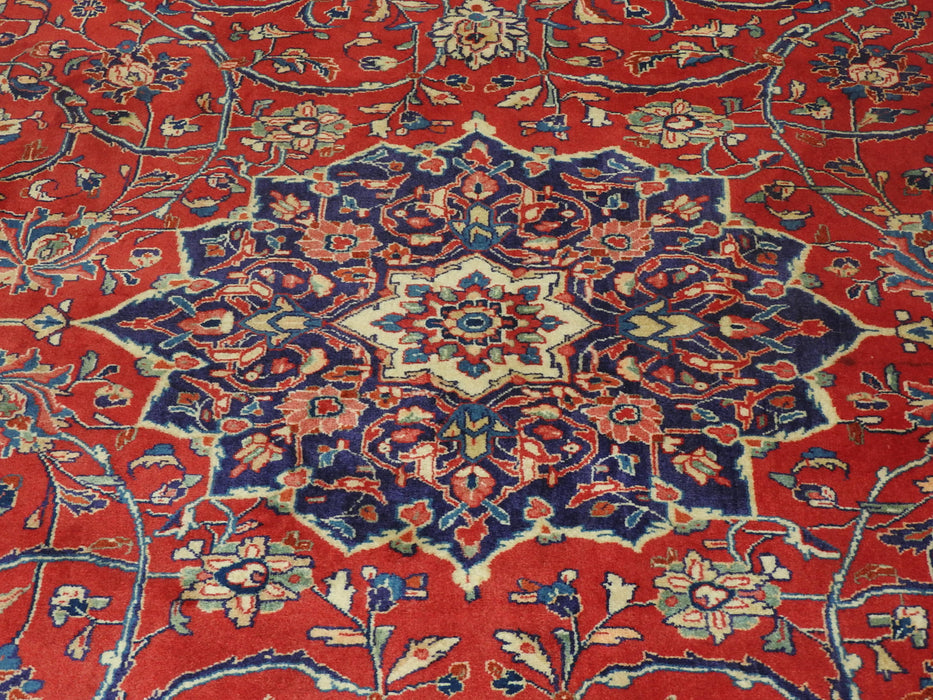 Persian Hand Knotted Sarouk Rug Size: 320 x 222cm-Persian Rug-Rugs Direct
