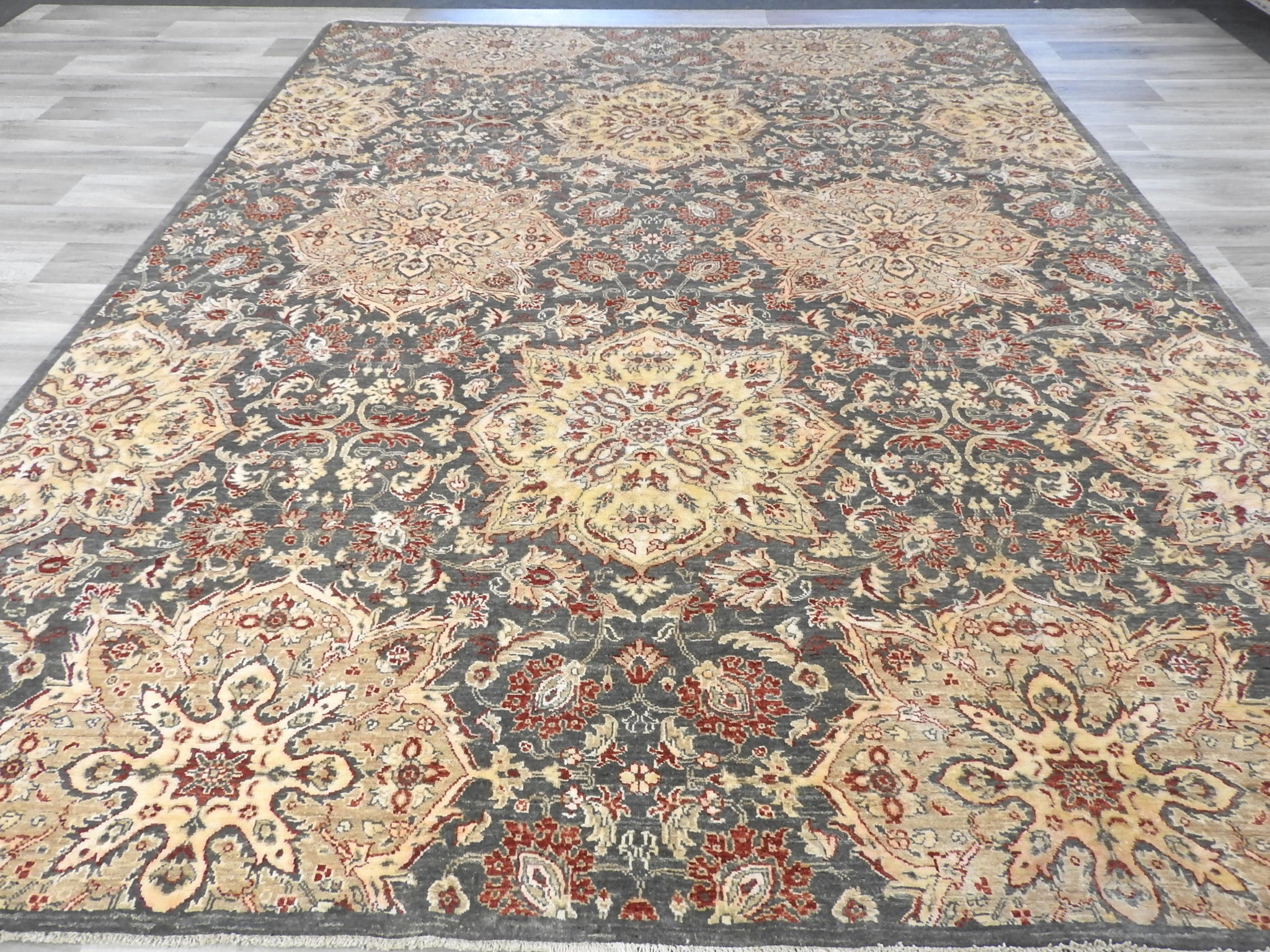 Afghan Hand Knotted Choubi Rug Size: 348 x 272cm