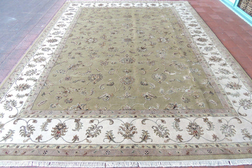 Hand Knotted Kashmir Wool & Silk Rug Size: 272 x 360cm