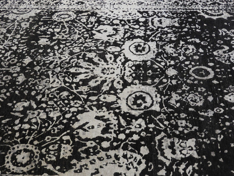 Spectacular Bamboo Silk Hand Knotted Erased Design Size: 240 x 300cm-Bamboo Silk-Rugs Direct