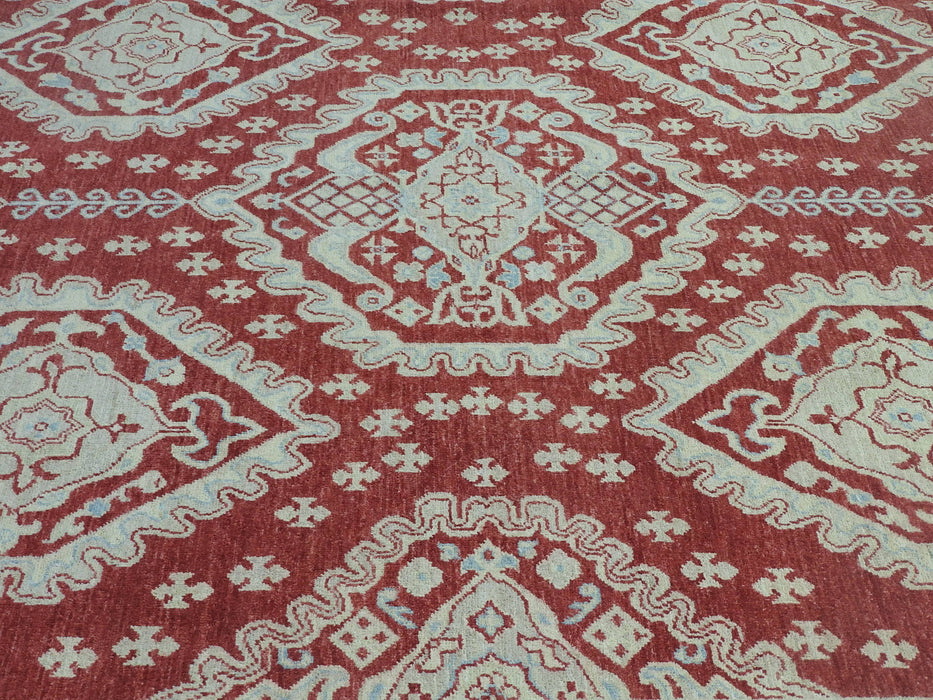 Afghan Hand Knotted Choubi Rug Size: 255 x 295cm