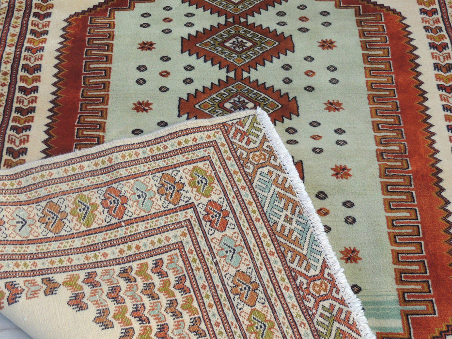 Persian Hand Knotted Turkman Rug Size 190cmx142cm-Physical-Rugs Direct