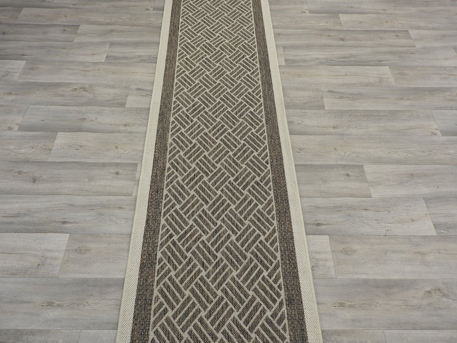 Sisal Look Flatweave Rubber Back Runner 67cm Wide x Cut To Order