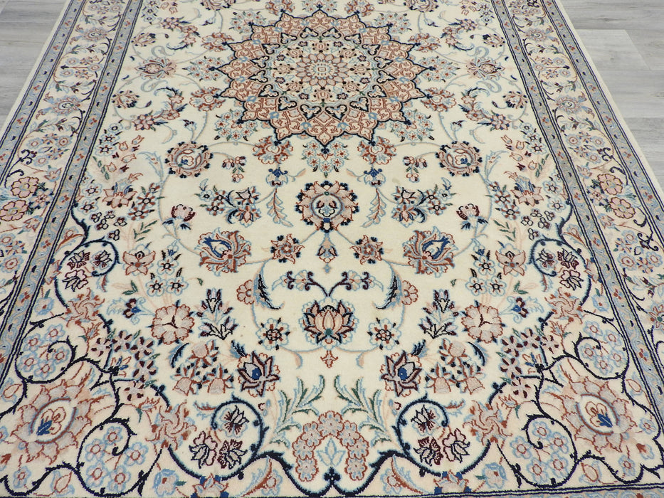 Persian Hand Knotted Nain Rug Size: 219 x 130cm-Persian Rug-Rugs Direct