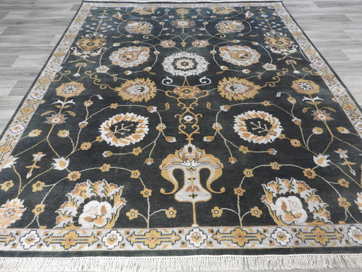 Hand Spun Hand Knotted Oushak Design Rug Size: 301 x 249cm-Bamboo Silk-Rugs Direct