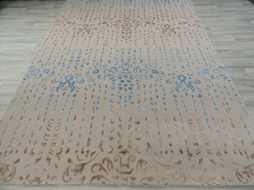 Hand Knotted Modern Wool & Silk Erased Design Rug Size: 200 x 300cm-Wool Rug-Rugs Direct