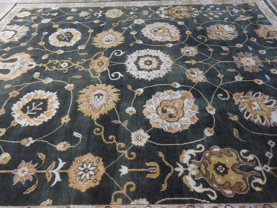 Hand Spun Hand Knotted Oushak Design Rug Size: 301 x 249cm