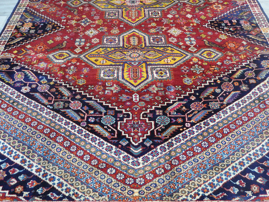 Persian Hand Knotted Shiraz Rug Size: 287 x 198cm-Persian Rug-Rugs Direct