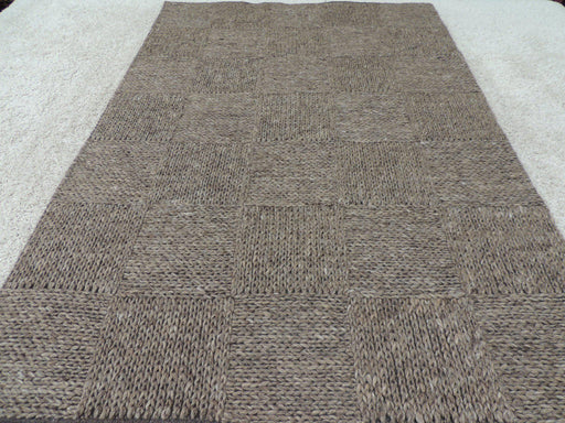 Modern 100% NZ Wool Hand Made Rug Size: 155 x 230cm-natural/wool-Rugs Direct