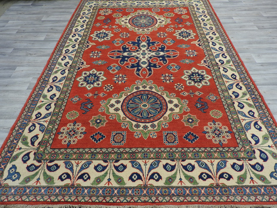 Afghan Hand Knotted Kazak Rug Size: 200 x 298cm