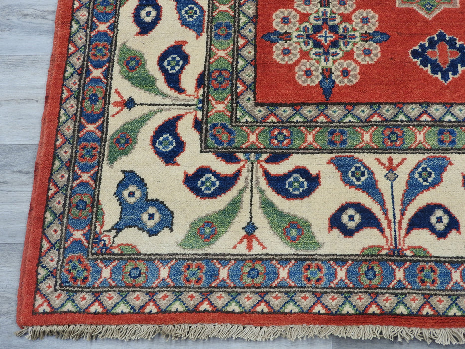 Afghan Hand Knotted Kazak Rug Size: 200 x 298cm-Kazak Rug-Rugs Direct