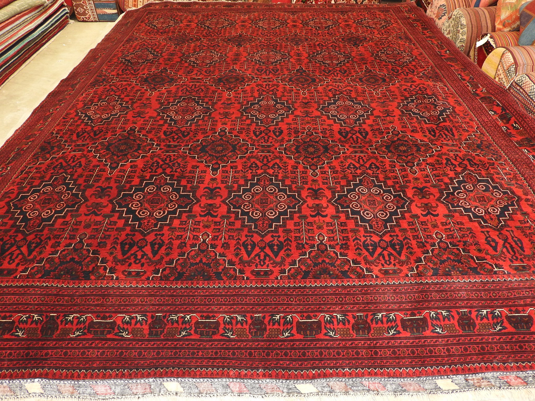 Afghan Hand Knotted Khal Mohammadi Rug Size: 298 x 390cm