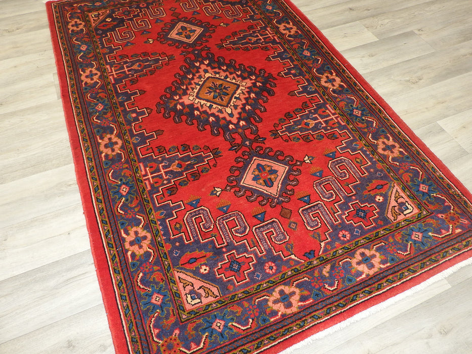 Persian Hand Made Vist Sarouk Rug Size: 185 x 116cm-Persian Rug-Rugs Direct