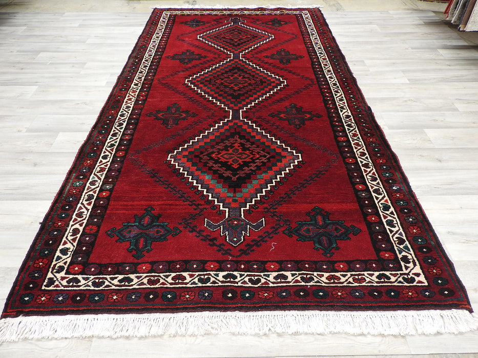 Persian Hand Made Luri Rug Size: 290 x 160cm-Bukhara Rug-Rugs Direct