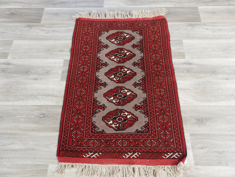 Persian Hand Made Turkman Rug Size: 85 x 125cm-Persian Rug-Rugs Direct